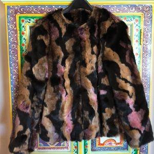 bar III faux fur lined long sleeve jacket Size M